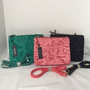 Lacy Crossbody Clutch Convertable Handbag